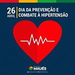 Daqui a pouvo acontece uma grande ação na Praça da Matriz, a partir de 9h da manhã, referente ao Dia de Prevenção e Combate a Hipertensão. Participe e cuide da sua saúde. Essa é mais uma ação da Prefeitura de Maués, por meio da Secretaria Municipal de Saúde (SEMSA). #UmaNovaMaués #PrefeituraDeMaués #GovernoJuniorLeite #Saúde #Hipertensão