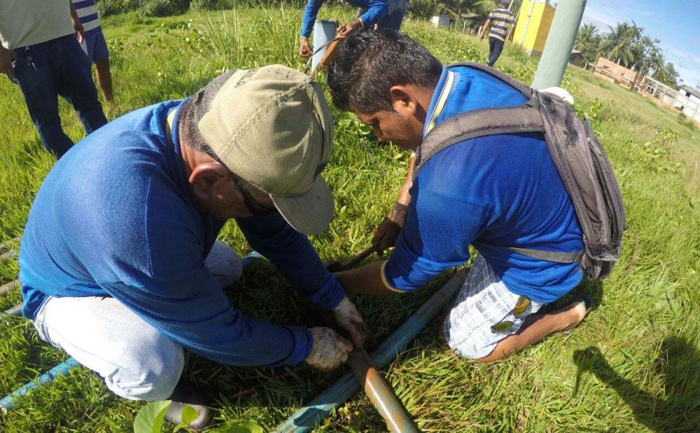 SAAE-Maués realiza ações na cidade e na Zona Rural