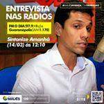 Amanhã (14), tem novidade nas rádios FM O DIA e Guaranópolis, às 12h10 o prefeito de Maués, Júnior leite, entra ao vivo trazendo vários assuntos importantes para população Mauesence. Sintonize! #PrefeituraDeMaués #MauésAvançaComTrabalho #Entrevista #PrefeitoJuniorLeite #RádioFMODIA #RádioGuaranópolis