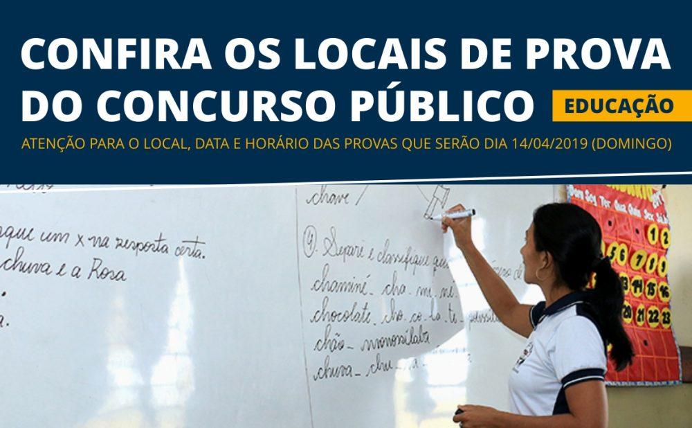 Semed divulga locais das provas do concurso público para professores