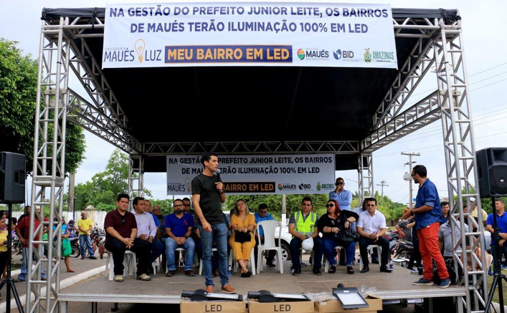 Maués inova com sistema de iluminação e será o primeiro município do AM 100% LED